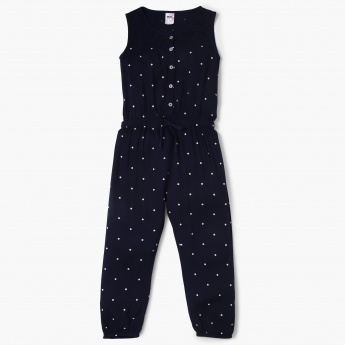 MAX Polka-Dot Print Sleeveless Jumpsuit
