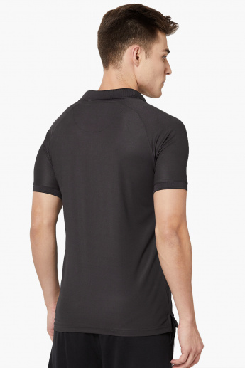 MAX Monochrome Polo Neck T-Shirt
