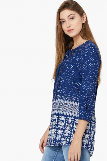 MAX Vine Print Full Sleeves Tunic