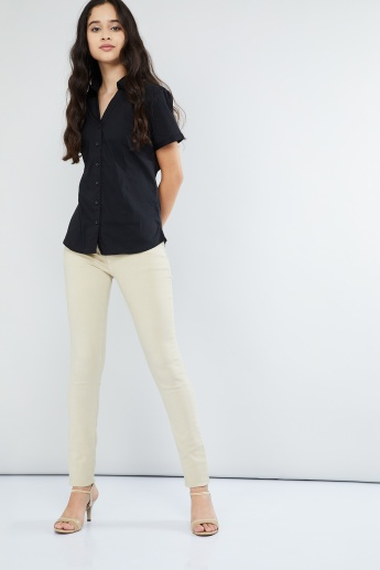 MAX Solid Spread Collar Shirt