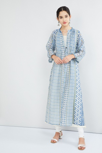 MAX Printed Pleated Layered Kurta