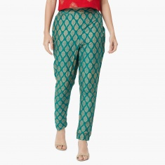 MAX Ethnic Print Tapered Pants