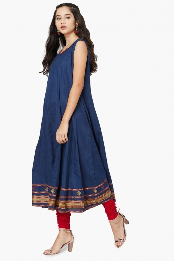 MAX Embroidered Border A-Line Kurta