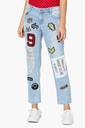 MAX Patchwork Distressed Jeans