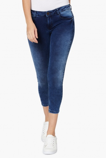 MAX Skinny Fit Denim Capris