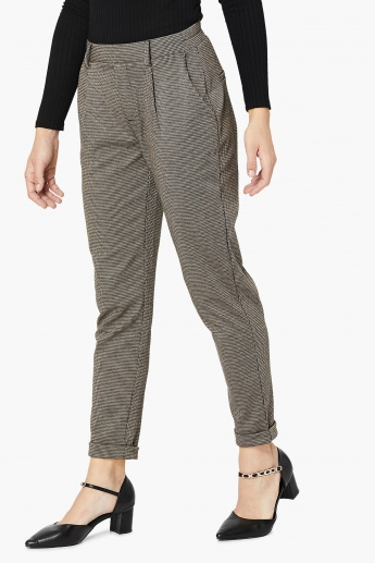 MAX Printed Pleated Trousers