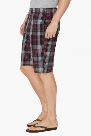 MAX Checked Cotton Lounge Shorts