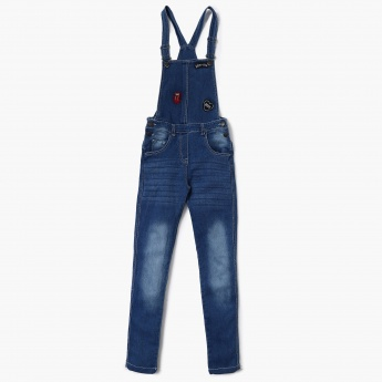 MAX Applique-Detailed Washed Dungarees