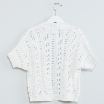 MAX Knitted Short Sleeves Shrug