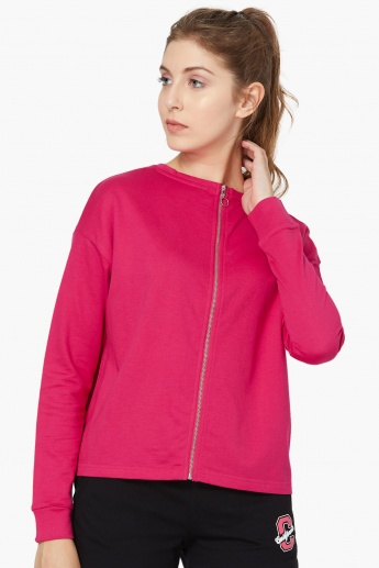 MAX Back Print Zip-Up Sweatshirt