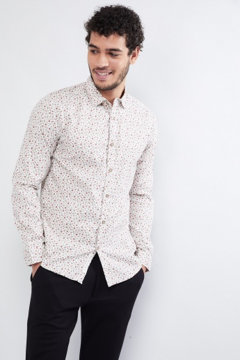 MAX Floral Print Long-Sleeve Shirt