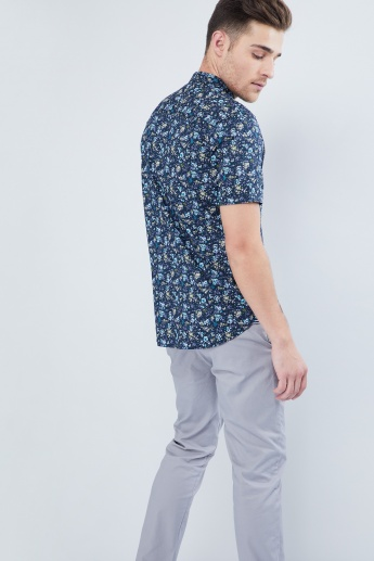 MAX Floral Print Short Sleeves Shirt