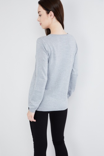 MAX Speckled Crew-Neck Pullover