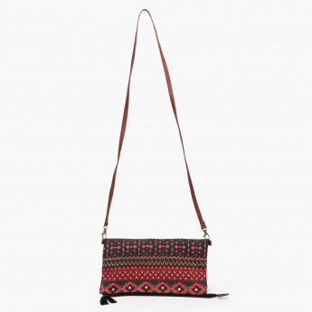 MAX Printed Zip Closure Sling Bag