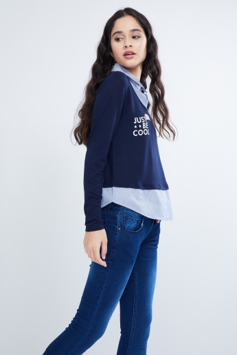 MAX Layered Patchwork Top
