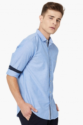 MAX Textured Roll-up Sleeves Shirt