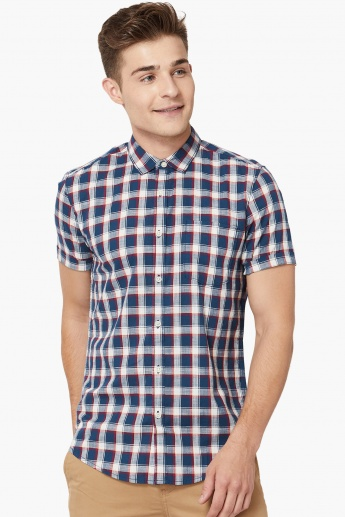 MAX Checks Slim Fit Short Sleeves Shirt