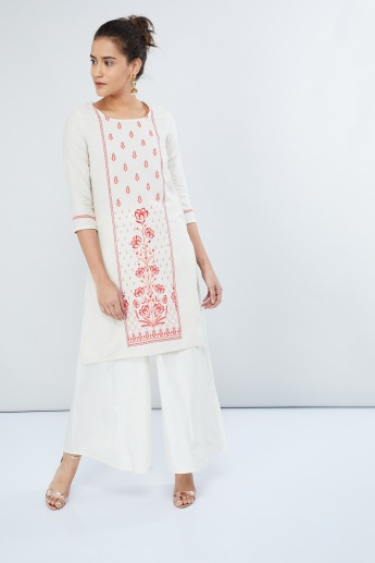 MAX Printed Three-Quarter Sleeve Kurta