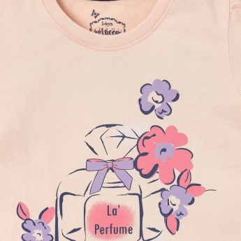 MAX Perfume Graphic Print Top