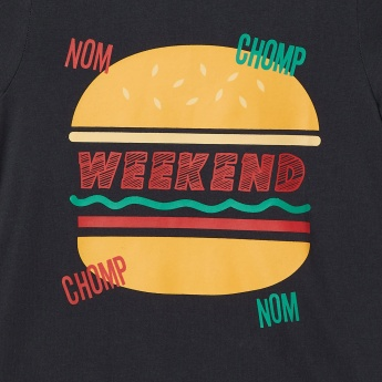 MAX Burger Print Crew Neck T-Shirt