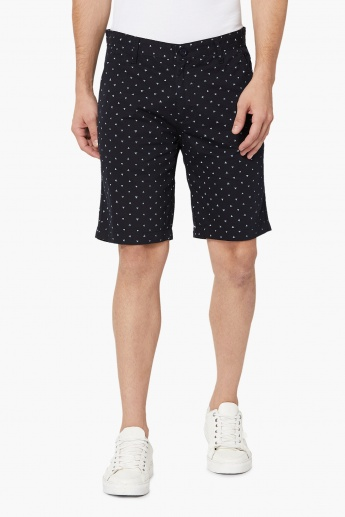 MAX Geometric Print Chino Shorts
