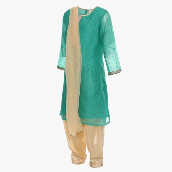 MAX Embellished Kurta With Pants And Dupatta