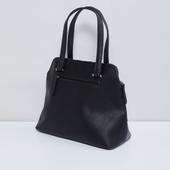MAX Textured Zip Closure Handbag