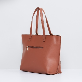 MAX Panelled Textured Tote Bag