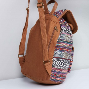 MAX Jacquard Drawstring Backpack