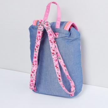 MAX Floral Embroidery Chambray Backpack