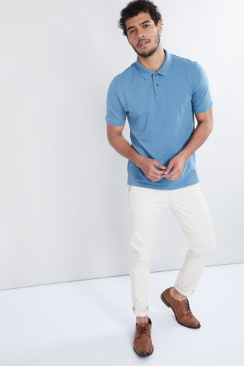 MAX Solid Melange Polo T-shirt