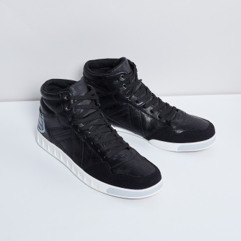 MAX High-Top Lace-Up Sneaker Boots