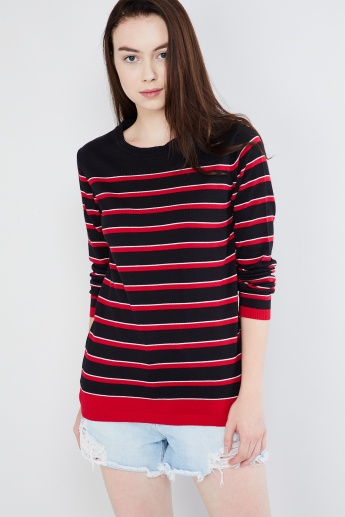 MAX Striped Full Sleeves Pullover