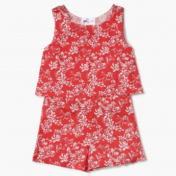 MAX Floral Print Sleeveless Playsuit