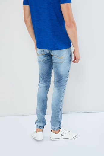 MAX Solid 5-Pocket Denim Joggers