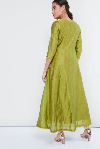 MAX Sequinned Layered Silk Anarkali Kurta