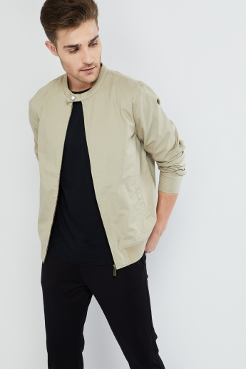 MAX Solid Zip-Up Jacket