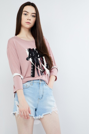 MAX Patchwork Long-Sleeve Top