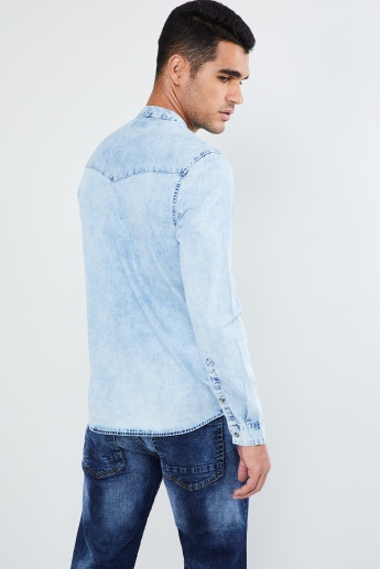 MAX Stone-Washed Denim Shirt