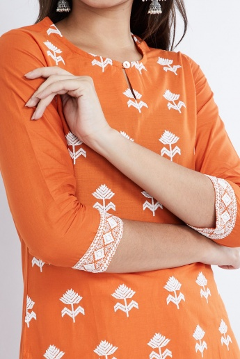 MAX Floral Embroidery Straight Kurta