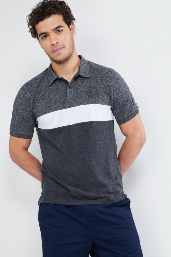 MAX Gradient Texture Polo Neck T-Shirt