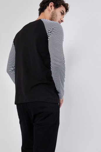 MAX Striped Raglan Sleeve T-shirt