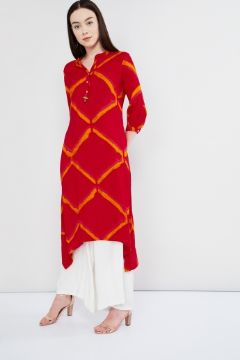 MAX Leheriya Print High-Low Kurta
