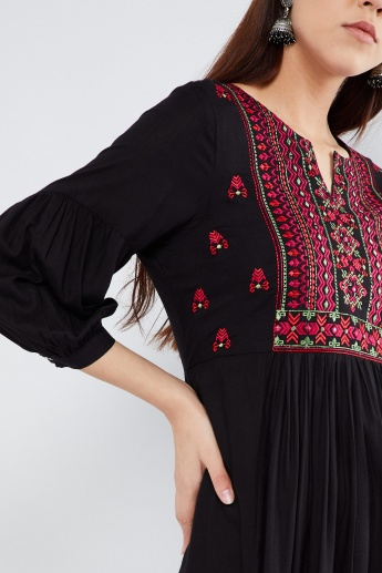 MAX Embroidered Flared Kurta