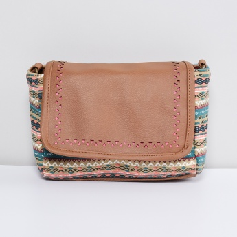 MAX Printed Flap -over Sling Bag