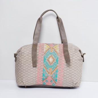 MAX Printed Embroidered Duffle Bag