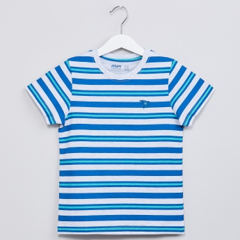 MAX Striped Crew-Neck T-shirt