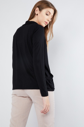 MAX Solid Full Sleeve Shrug