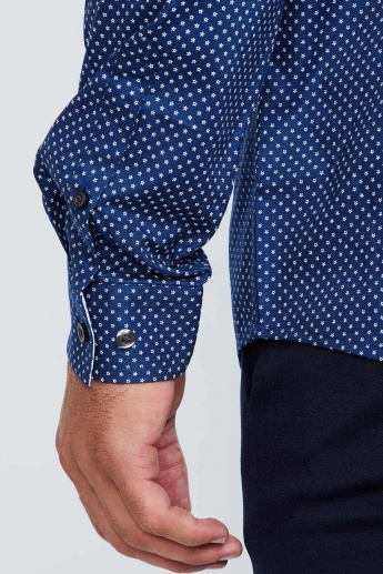 MAX All-Over Print Long-Sleeve Formal Shirt