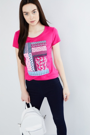 MAX Printed Cap Sleeve T-shirt